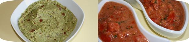 Guacamole und Salsa Sauce