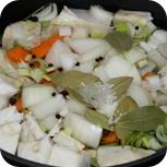 Gemüsebrühe aufkochen