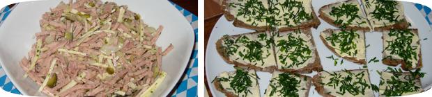 Schweizer Wurstsalat & Schnittlauchbrot