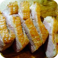 Balsamicosauce mit Herzoginnenkartoffeln und Bohnen im Speckmantel - Entenbrust