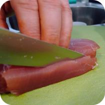 Thunfisch schneiden