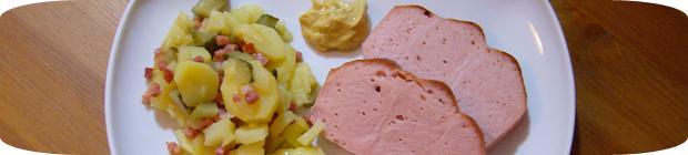 Leberkäse und Kartoffelsalat