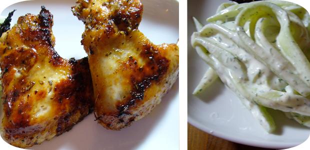 Gurkensalat & Chicken Wings