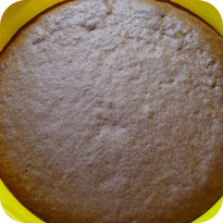 Granatapfeltorte - Schokoboden