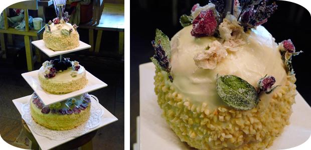 Hochzeitstorte (Himbeer-Joghurt-Torte)