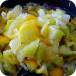 Gelbe Tomaten, eingekocht
