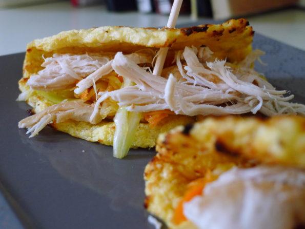 Pulled Chicken & Blumenkohl Tortilla