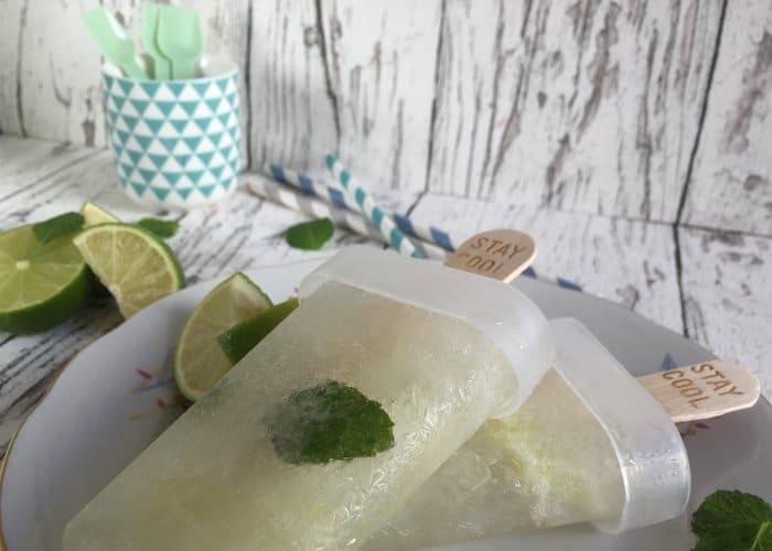 Gin und Limette Eis am Stiel