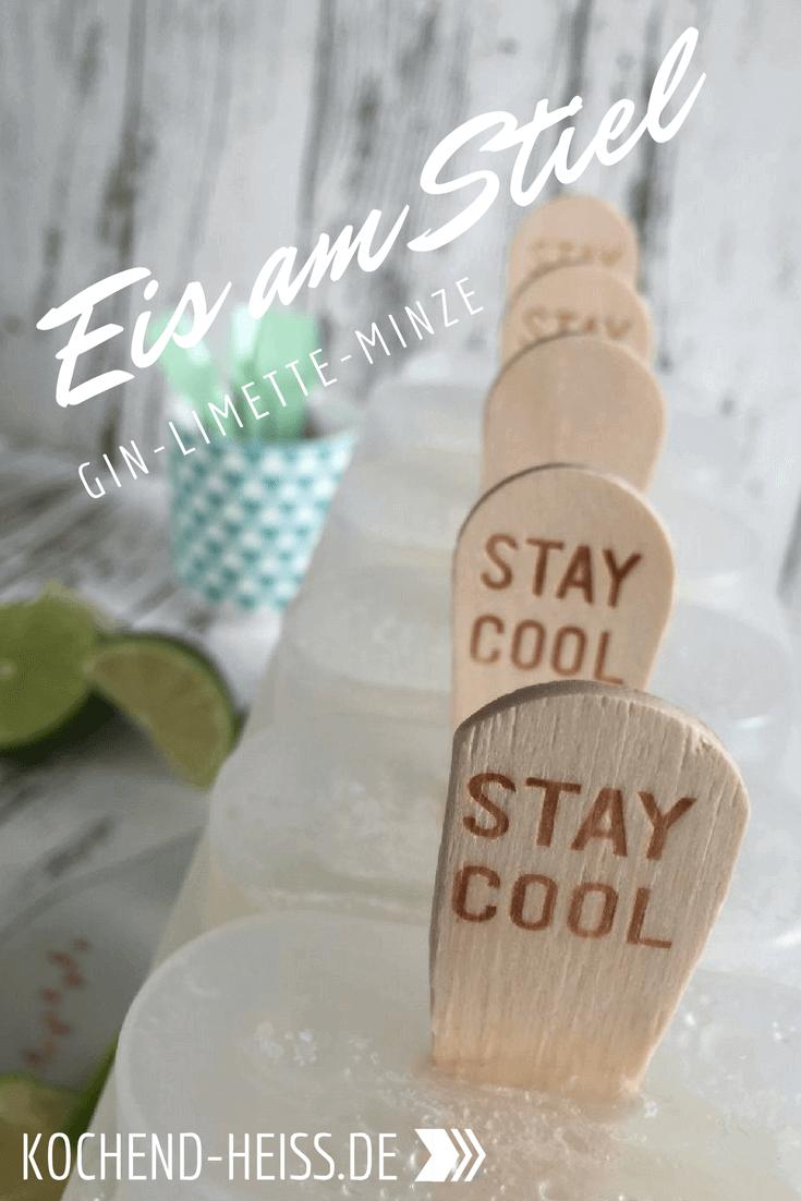 Gin Limetten Eis