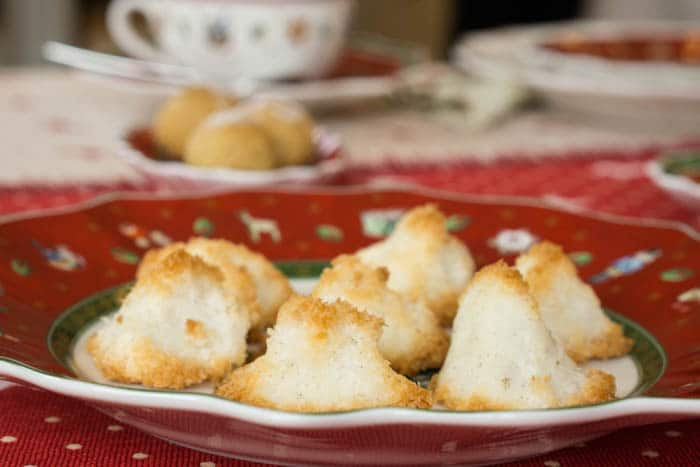 Weihnachtsplätzchen_Low Carb Kokosmakronen