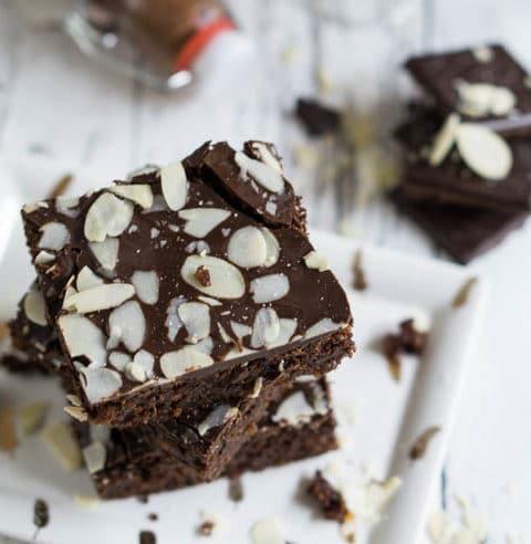Schoko Brownies ohne Zucker & ohne Mehl