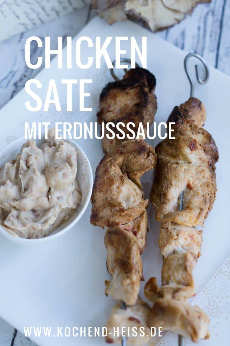 Hühnerspieße mit Erdnusssauce