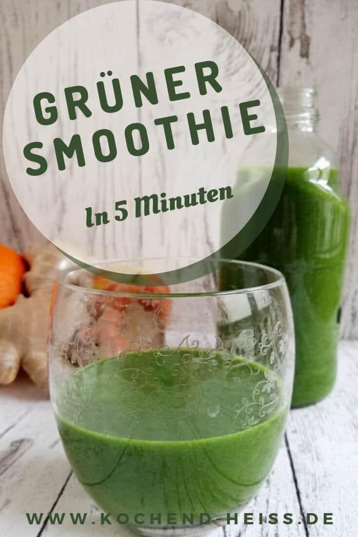 Rezept grüner Smoothie Spinat_Pinterest