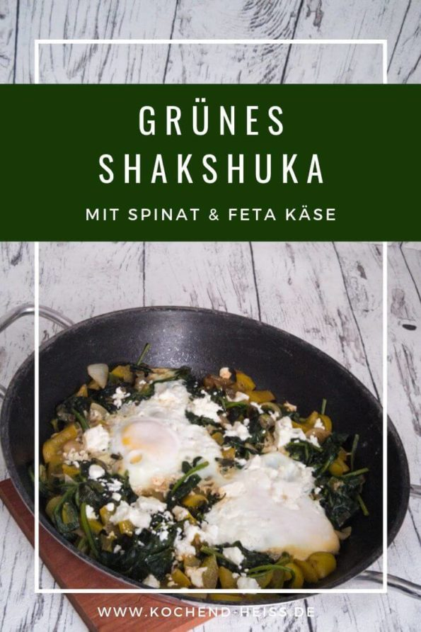 Grünes Shakshuka - isralisches Frühstücksgericht