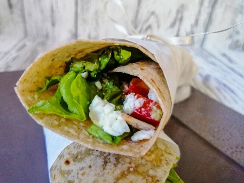 Vegetarische Wraps mit Feta