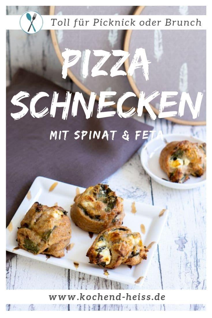 Pizzaschnecken mit Spinat