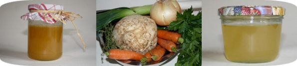 Hühner- und Gemüsebrühe