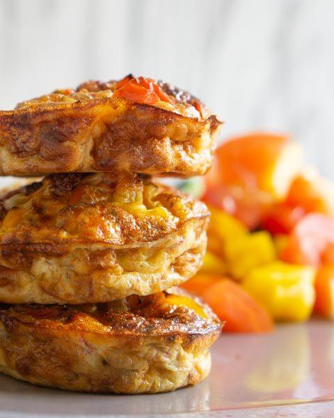 Eiermuffins mit Gemüse als Meal Prep – ideal zum Vorbereiten