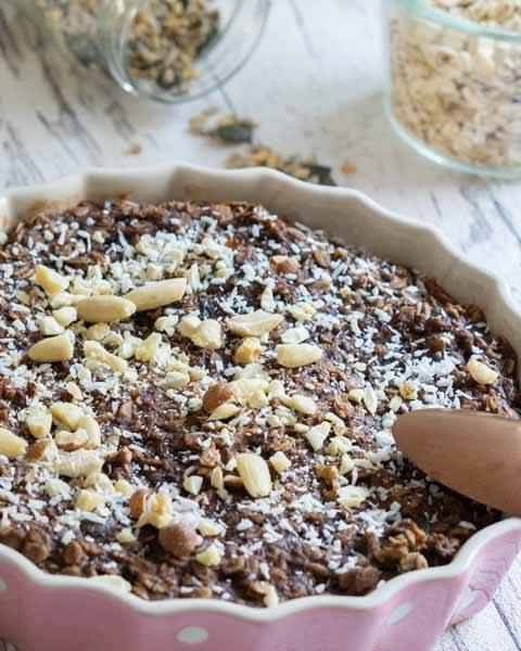 Schoko Haferflockenauflauf – Warmes Frühstücksrezept