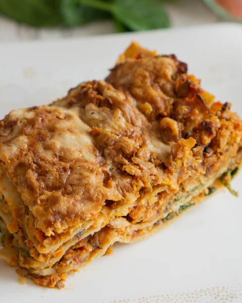Vegetarische Lasagne – Rezept mit Linsen und Spinat