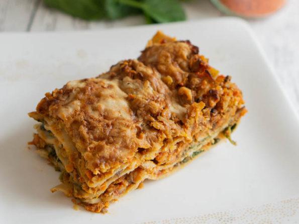 Vegetarische Lasagne - Rezept mit Linsen und Gemüse