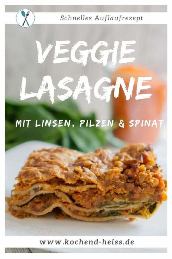 Vegetarische Lasagne - Rezept mit Linsen