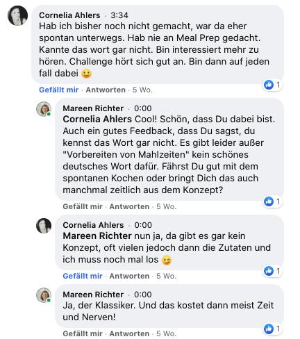 FB Cornelia - Durch Meal Prep abnehmen