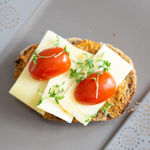 Käsebrot mit Veggie Streich