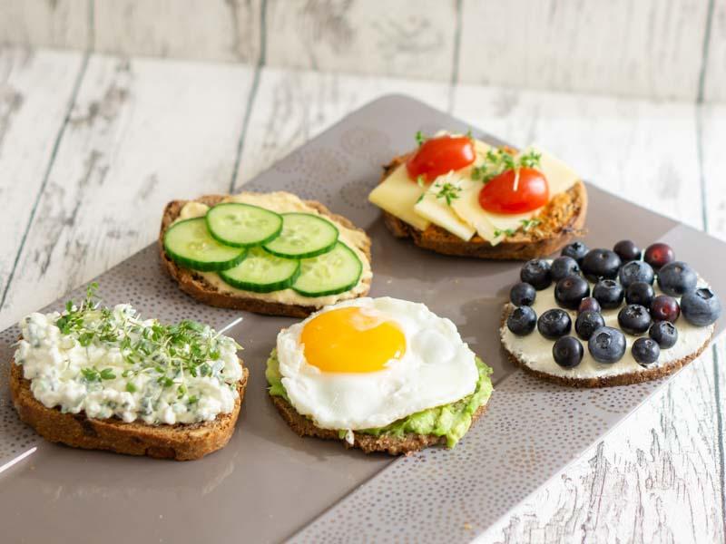 Frühstücksbrot - 5 Schnelle Ideen am Morgen